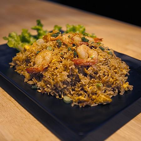 Riz thai crevettes