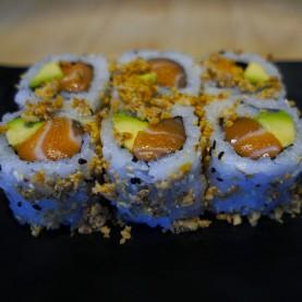 Crispy ognions - Saumon avocat concombre