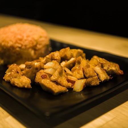 Poulet grillé poivre et sel