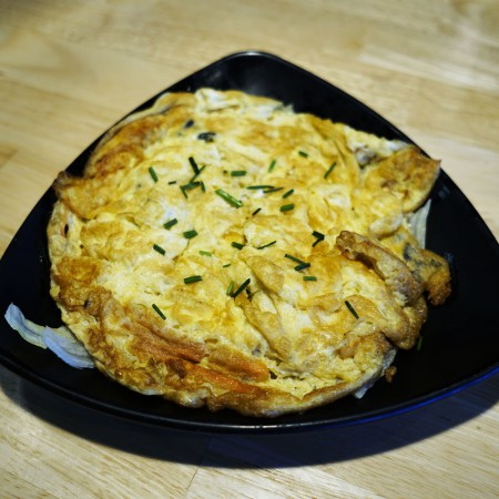 Omelette aux crevettes