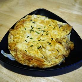Omelette au surimi