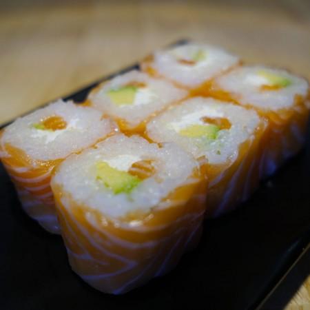 Roll saumon avocat boursin