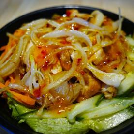 Salade d'asie aux crevettes