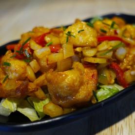 Crevettes grillées sel et poivre